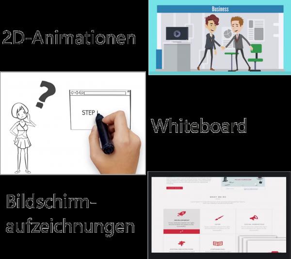 2d video, whiteboard videos